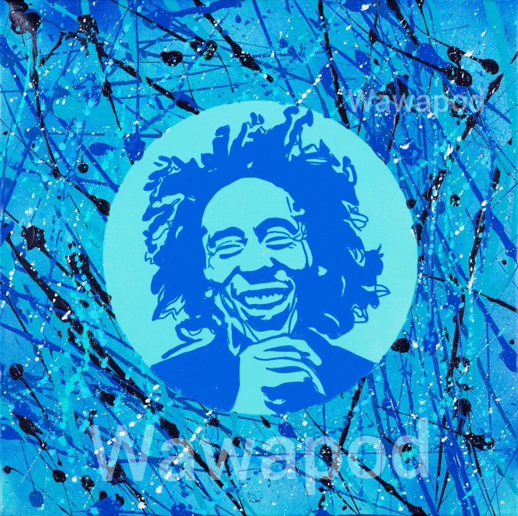 """Blue Bob"" / 50x50cm / 2020"