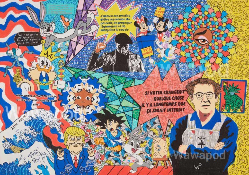 """""""Le monde est stone"""" / 100 x 70cm / 2020"""